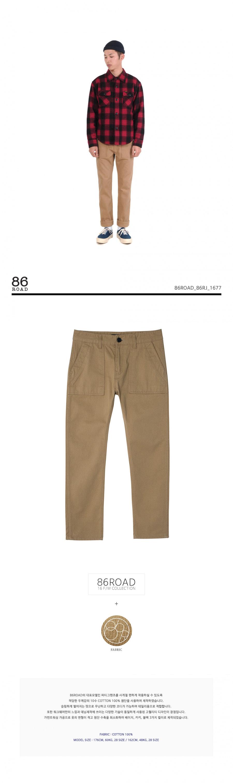 86로드(86ROAD) 86RJ-1677_베이지 슬림 퍼티그팬츠