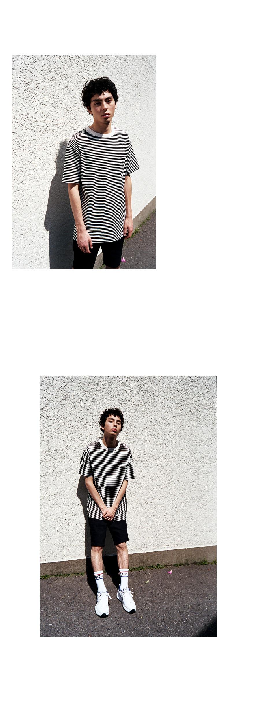 86로드(86ROAD) 2815  Stripe  t-shirts(Black)
